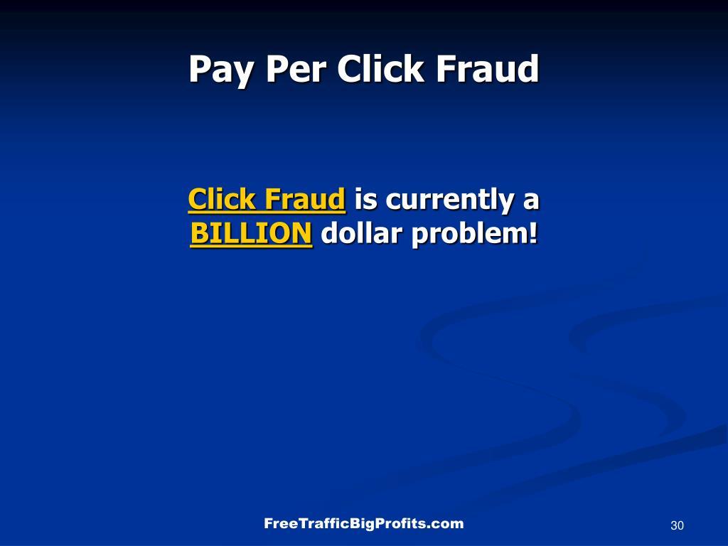Pay Per Click Fraud