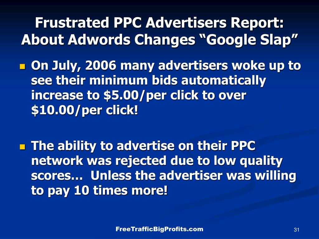 Frustrated PPC Advertisers Report:
