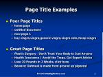 page title examples