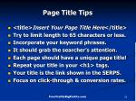 page title tips