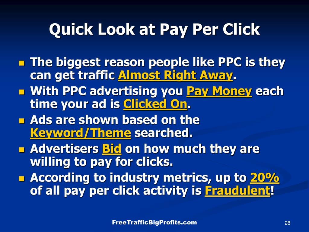 Quick Look at Pay Per Click