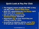 quick look at pay per click