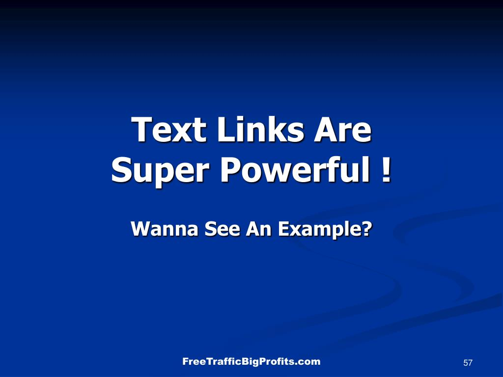 Text Links Are