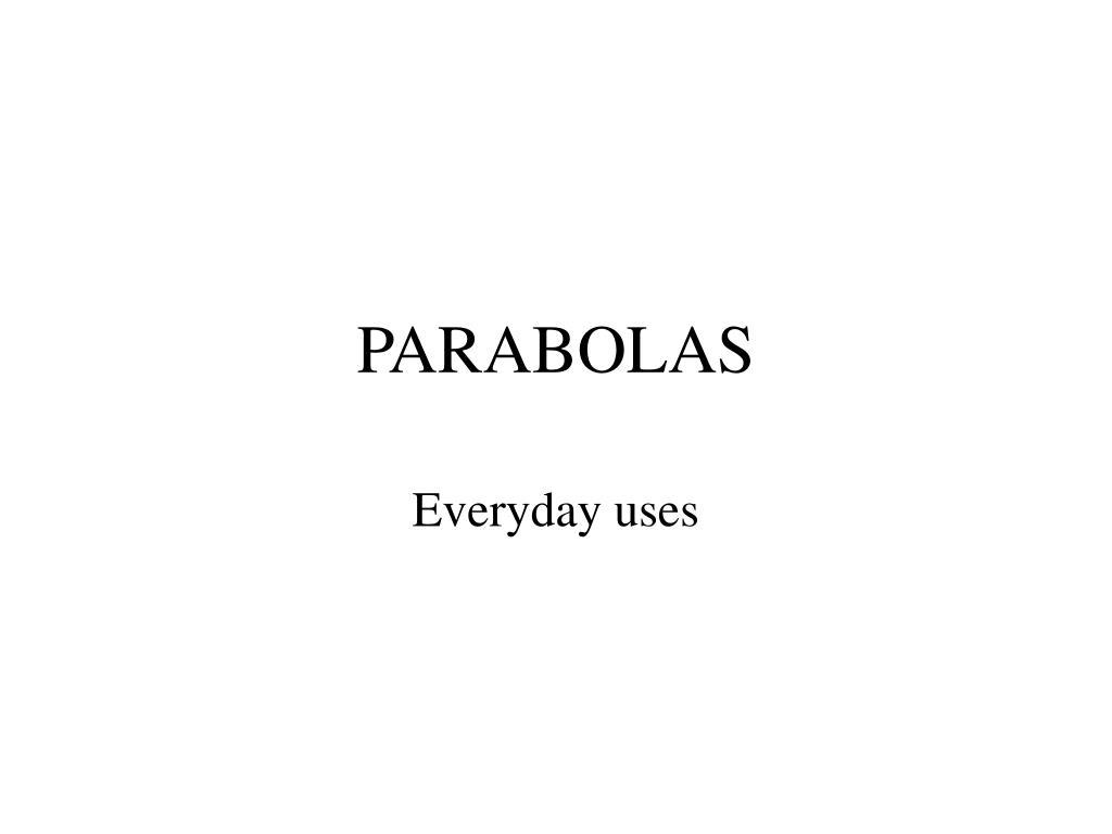 parabolas l.