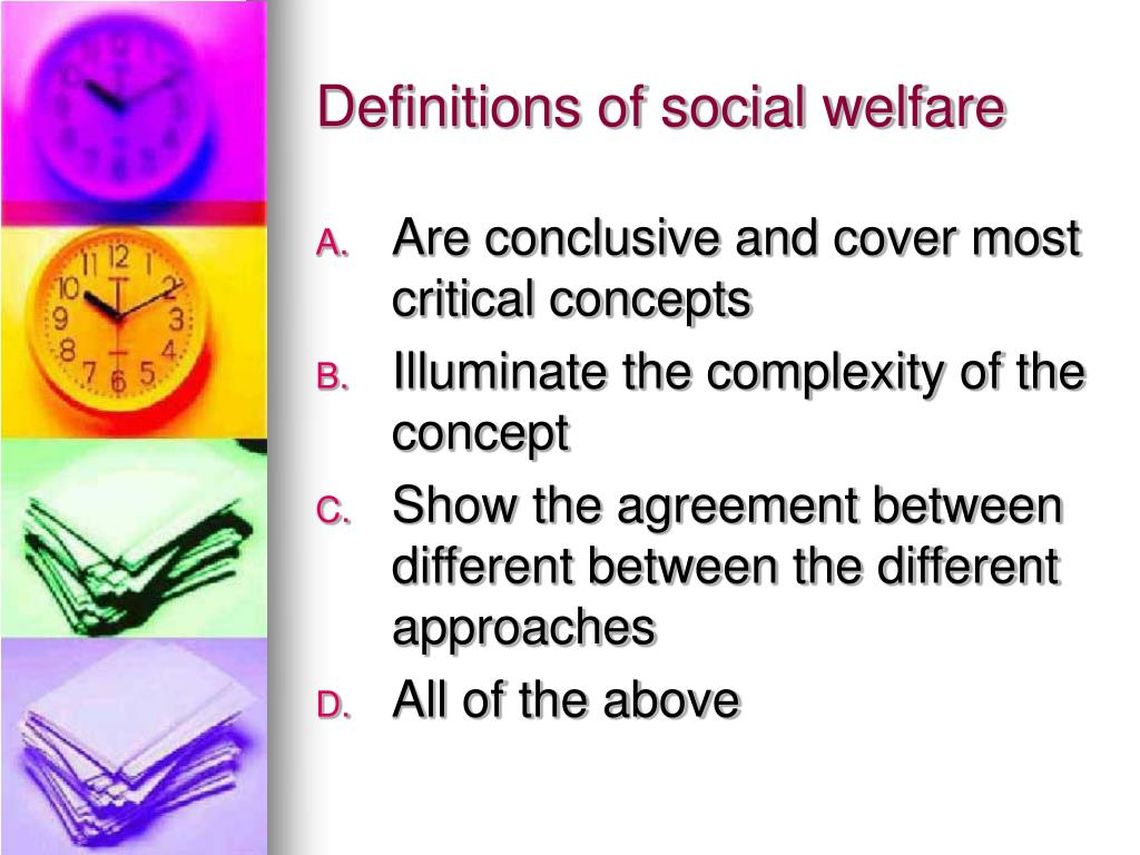 Definitions of social welfare