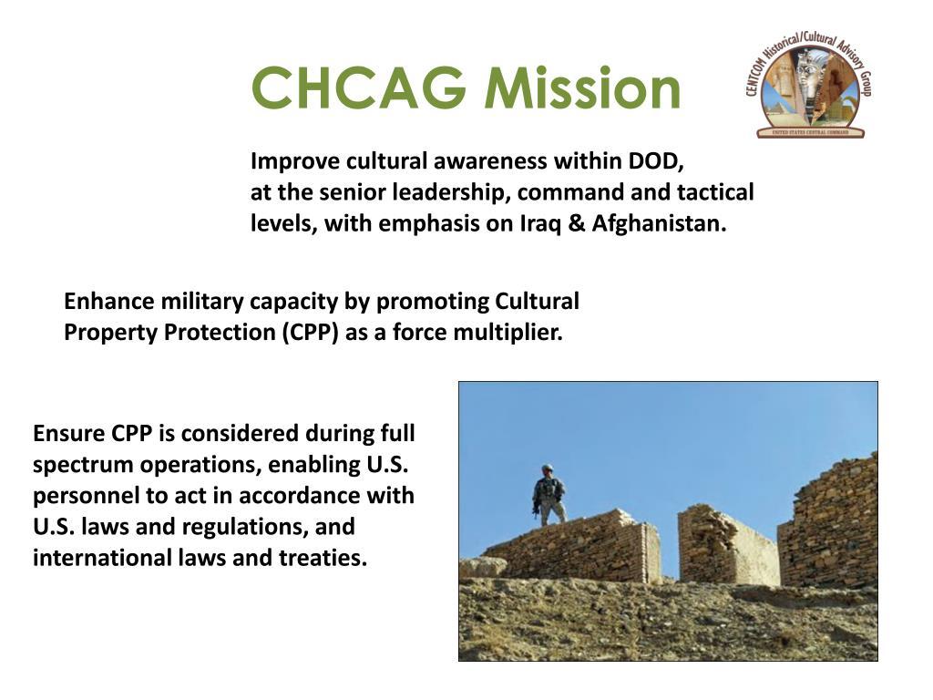 CHCAG Mission