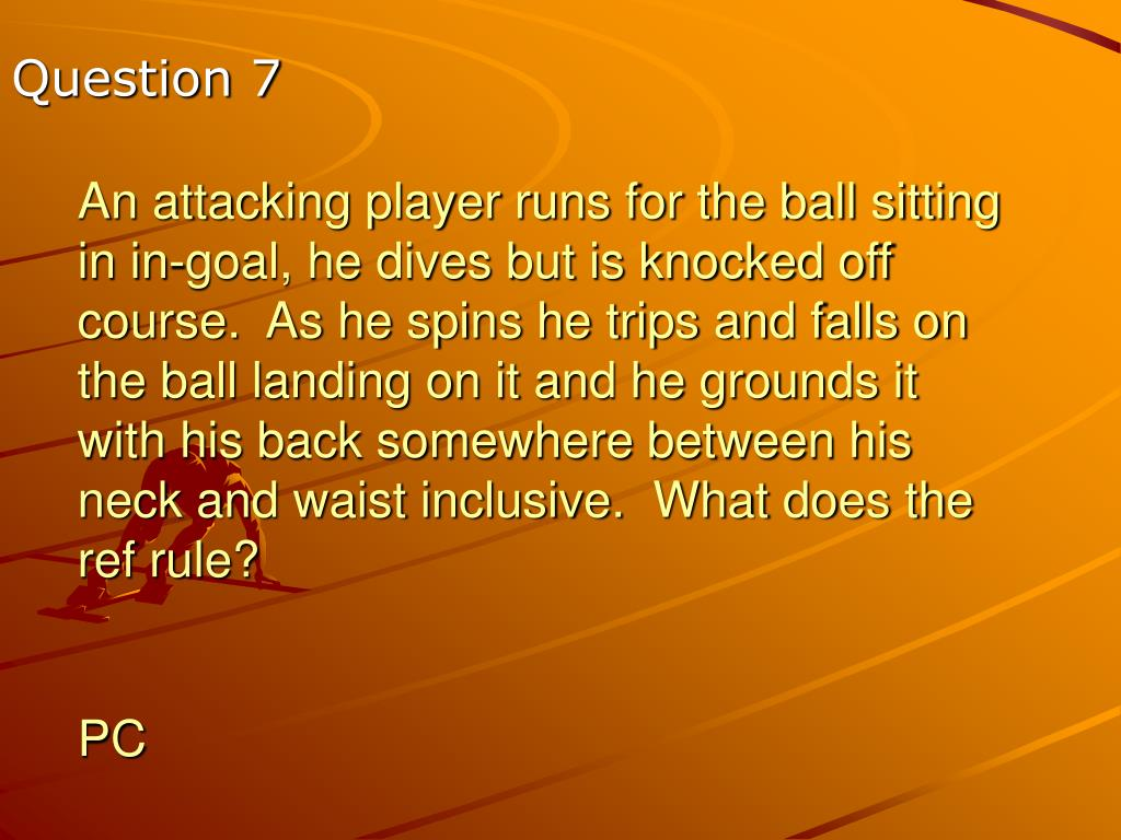 An attacking player runs for the ball sitting in in-goal, he dives but is knocked off course.  As he spins he trips and falls on the ball landing on it and he grounds it with his back somewhere between his neck and waist inclusive.  What does the ref rule?