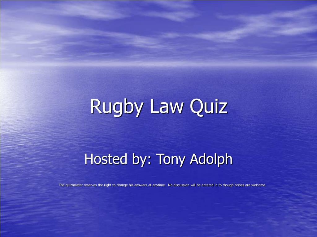 rugby law quiz l.