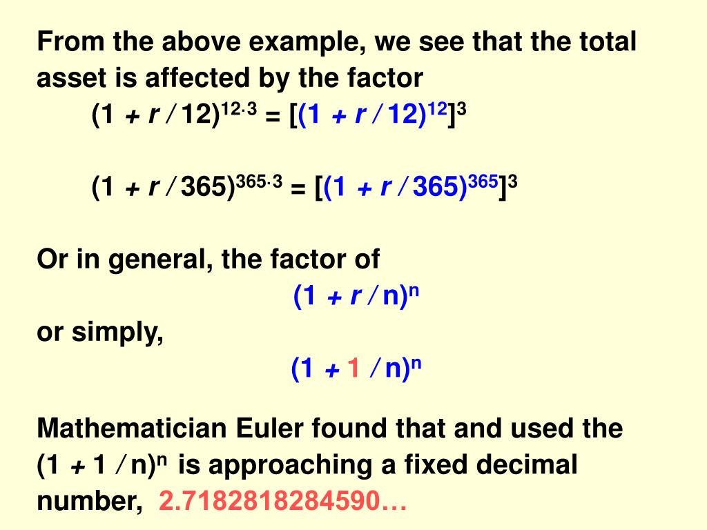 From the above example, we see that the total