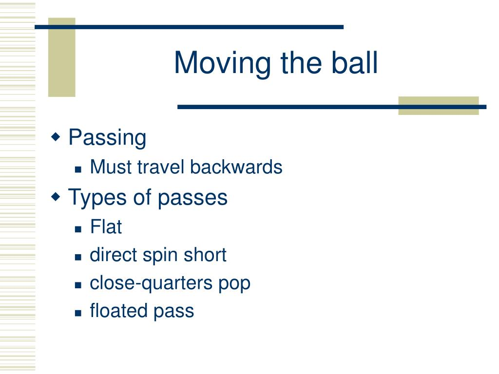 Moving the ball
