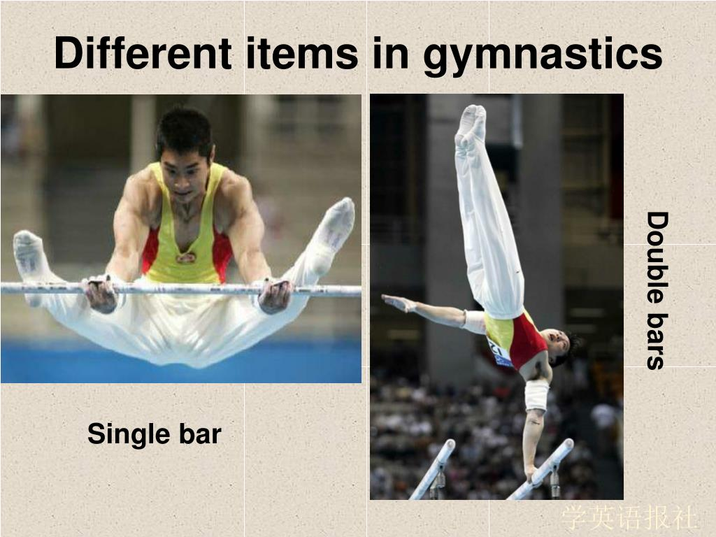 Different items in gymnastics