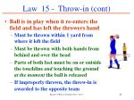 law 15 throw in cont51