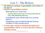 law 5 the referee