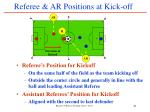 referee ar positions at kick off