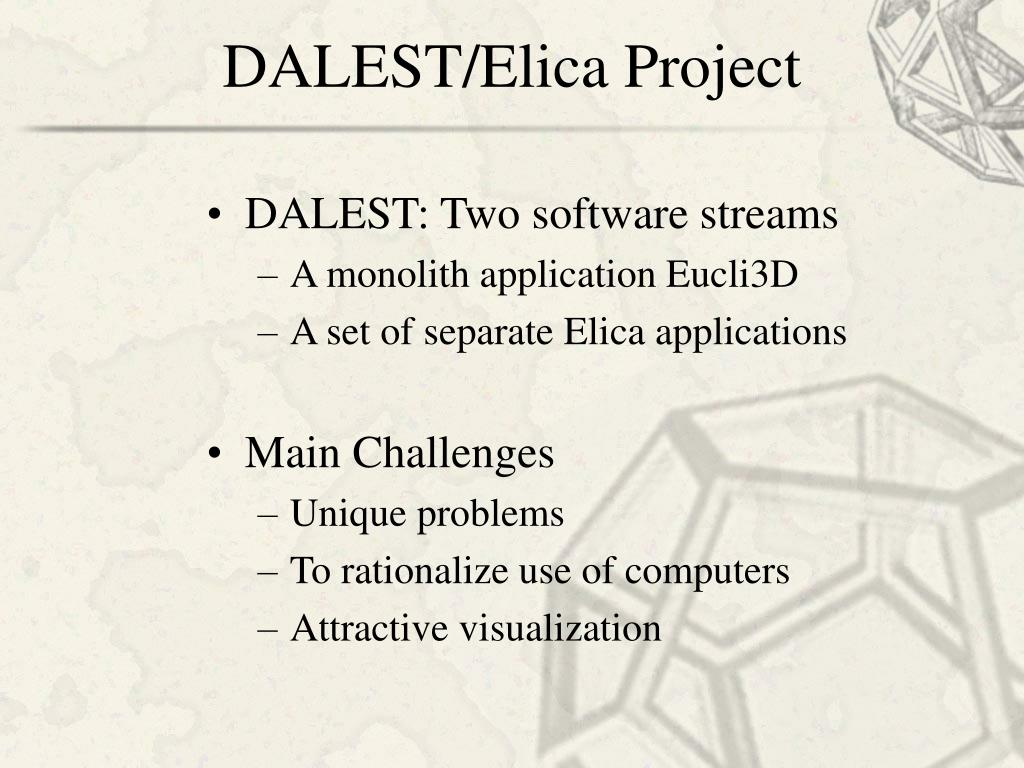 DALEST/Elica Project