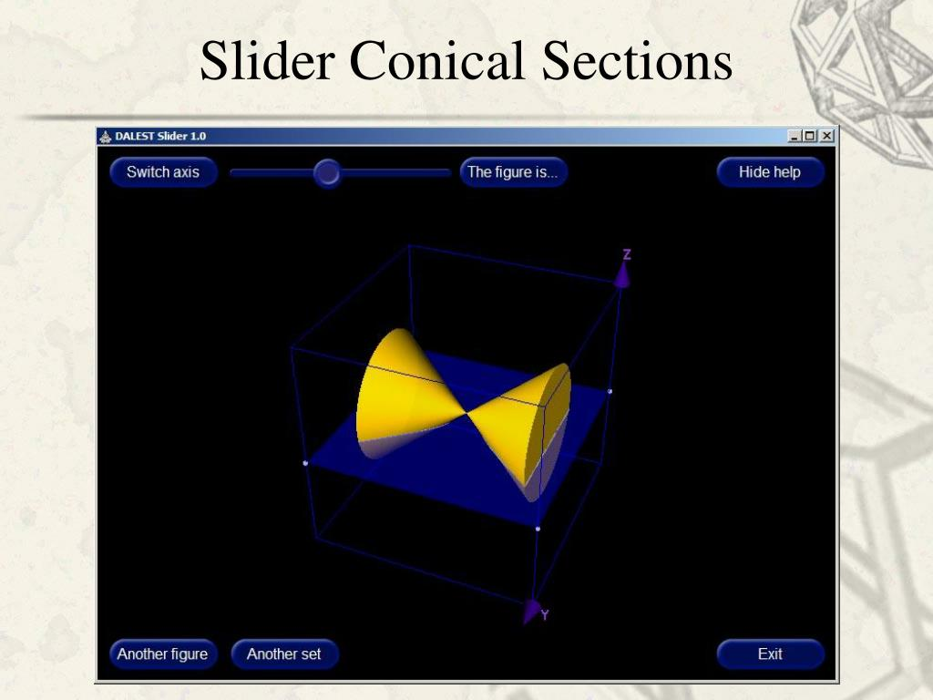 Slider Conical Sections