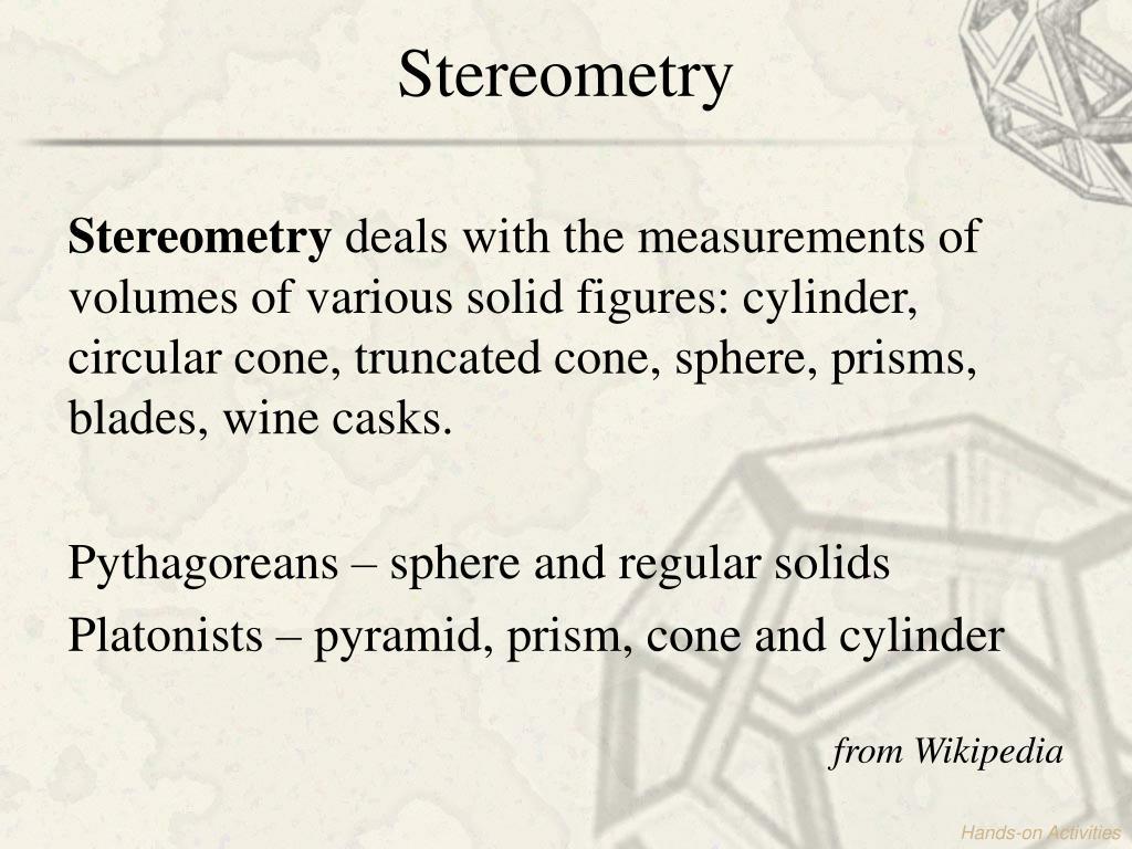Stereometry