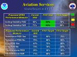 aviation services goals targets to fy 12