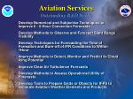 aviation services outstanding r d needs