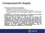 compressed air supply