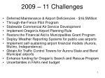 2009 11 challenges