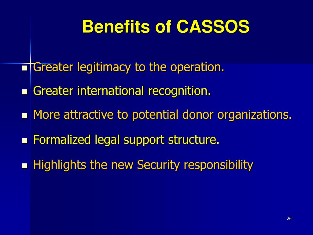 Benefits of CASSOS