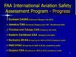 faa international aviation safety assessment program progress