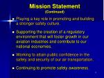 mission statement continued