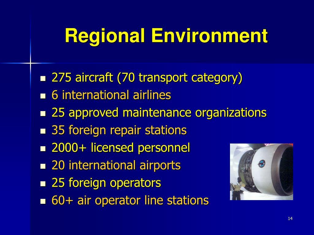 Regional Environment