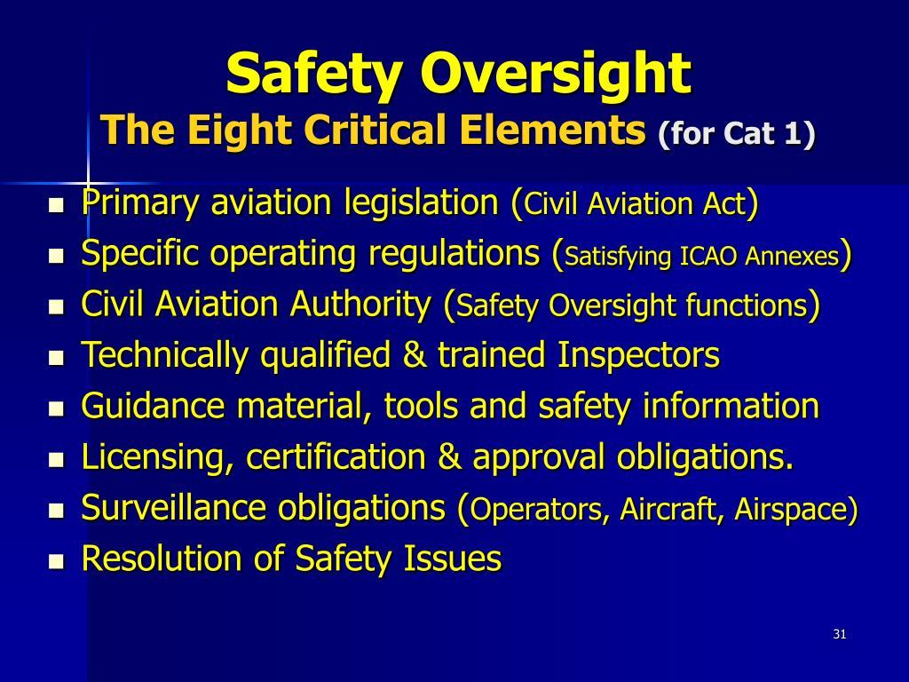 Safety Oversight