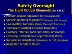 safety oversight the eight critical elements for cat 1