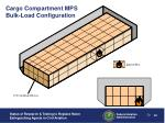 cargo compartment mps bulk load configuration