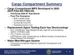 cargo compartment summary