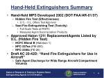 hand held extinguishers summary