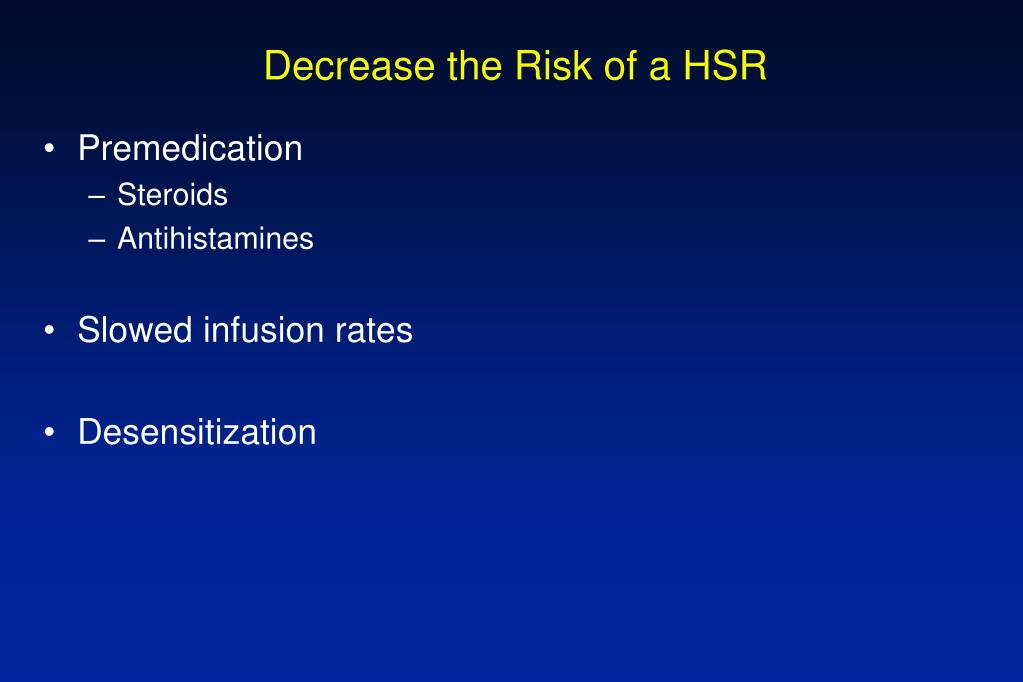 Decrease the Risk of a HSR