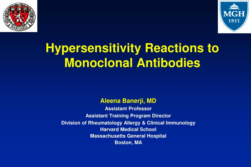 hypersensitivity reactions to monoclonal antibodies l.