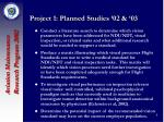project 1 planned studies 02 03