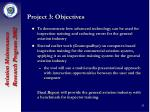 project 3 objectives
