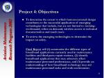 project 4 objectives