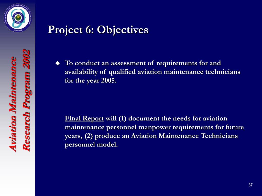 Project 6: Objectives