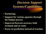 decision support systems capabilities
