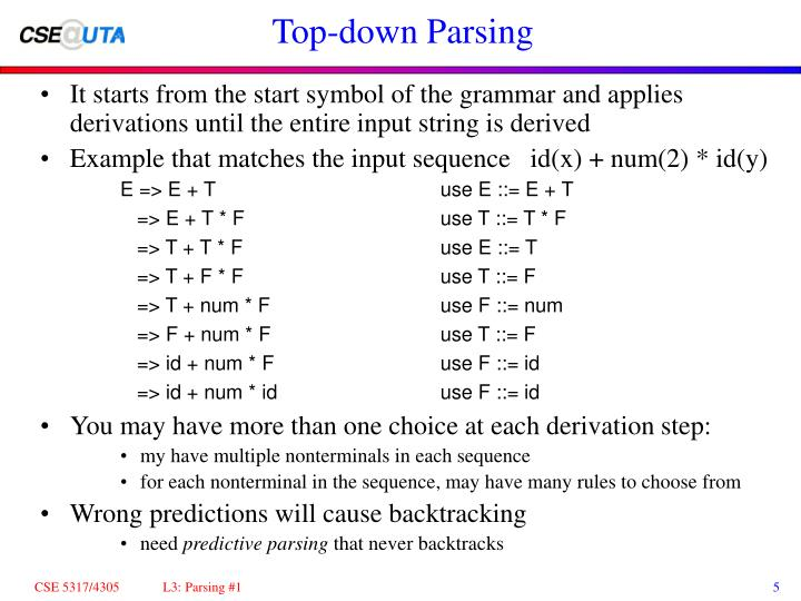 Top-down Parsing