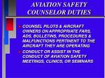aviation safety counselor duties5
