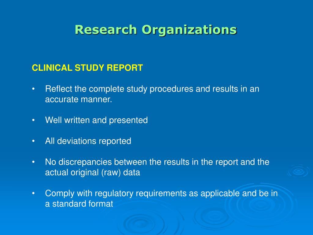 Research Organizations