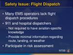 safety issue flight dispatch