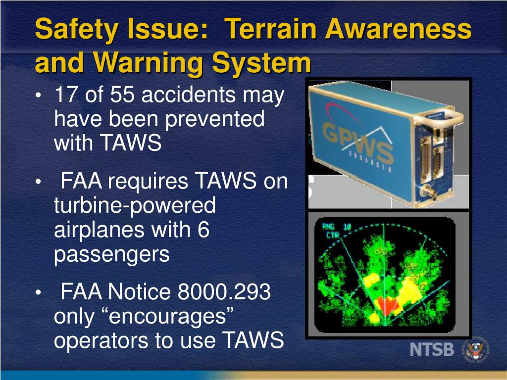 Safety Issue:  Terrain Awareness and Warning System