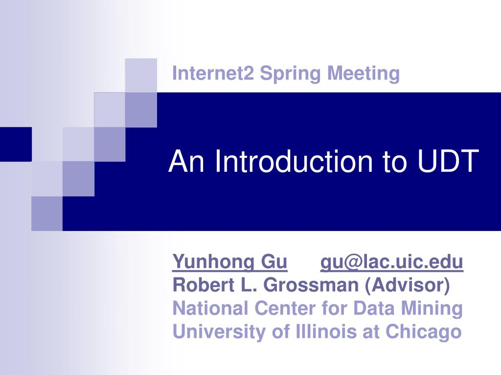 an introduction to udt l.