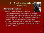 1 a leslie white neoevolution