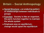 britain social anthropology