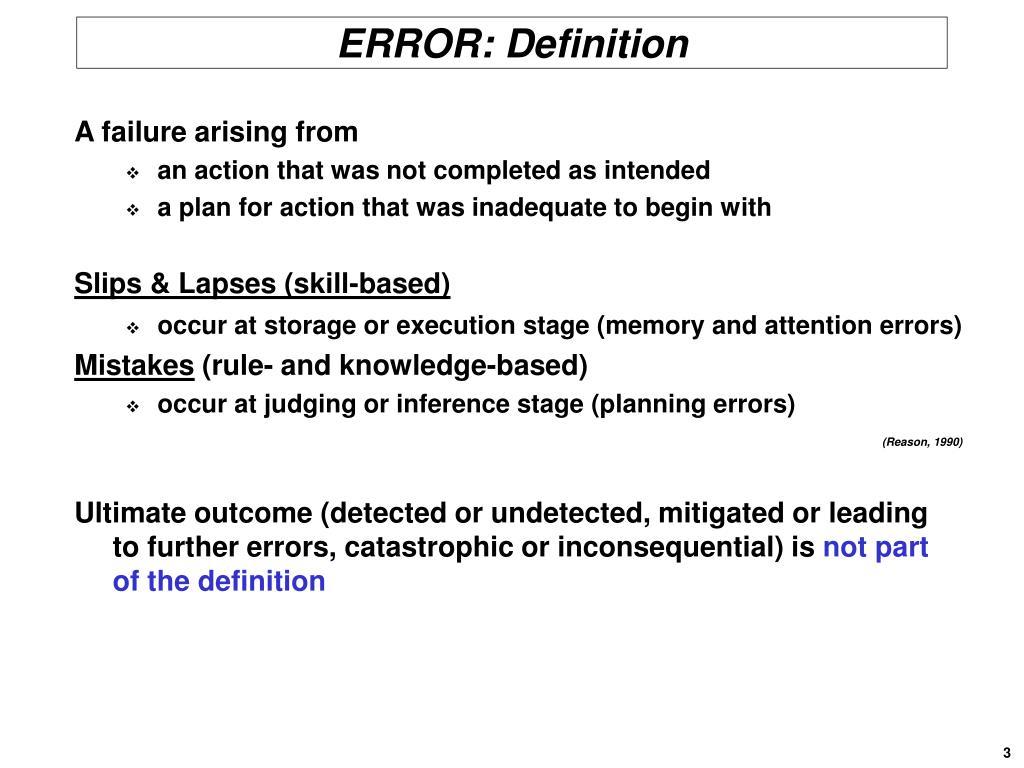 ERROR: Definition